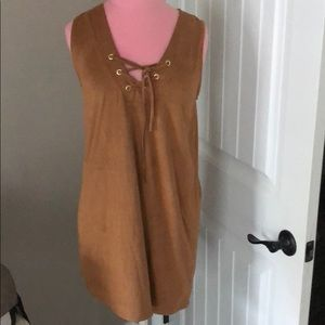 Faux Suede tank dress